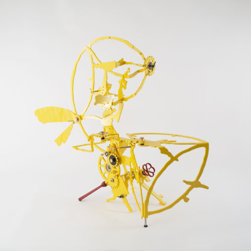 No.9, Beiping E Rd., Zhongzheng District, Taipei, Taiwan, #5, enlargement 1:3 2019 Compressed PVC, Brass, Steel, Hinges, Wood, Leather, Rubber, Acrylic plate, Rotatable devices, Wheel Valve handle, Iron lever handle, Gear 126 x 107 x 50 cm