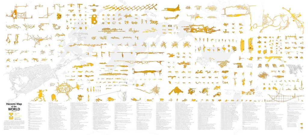Hecomi Map of the WORLD, 2015, 400 x 150 cm, Supported by Asahi Shimbun Foundation