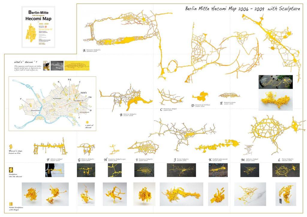 Berlin-Mitte Hecomi Map, 2009, 84 x 59 cm