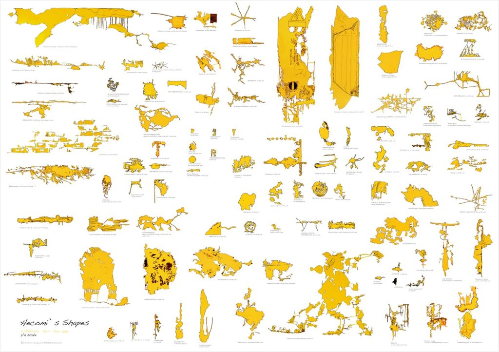 Rotterdam Hecomi Map, 2009, 140 x 100 cm, Published by Galerie PHOEBUS, Collection Bijzondere Collecties (Amsterdam)