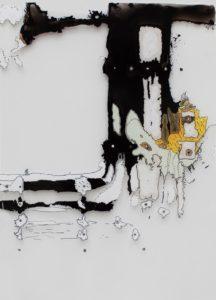 <i>Chimney</i> Acrylic paint, 70 x 100 cm, 2010