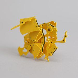 #21 Yellow, 2010, 9 x 8 x 3 cm