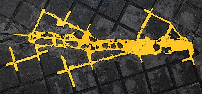 Barcelona Hecomi Map Project<br />Carrer Del Consell De Cent 453<br />2010, 96 x 55.8 cm
