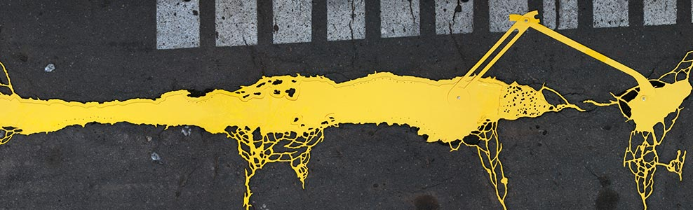 Linienstr.142, Berlin, DE<br />2011, 242 x 72 cm