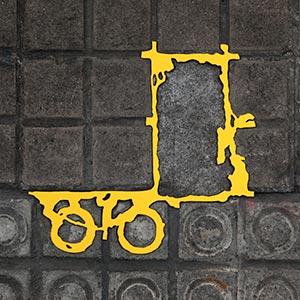 Barcelona Hecomi Map Project<br />Carrer De Arago 92<br />2014, 32 x 33.5 cm