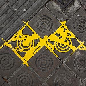 Barcelona Hecomi Map Project<br />Carrer De La Diputacio 200<br />2014, 68 x 35 cm