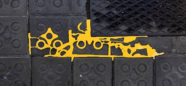 Barcelona Hecomi Map Project<br />Carrer De Rossello 436<br />2014, 67.5 x 21 cm