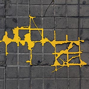 Barcelona Hecomi Map Project<br />Carrer De Tanger 35<br />2014, 84 x 48 cm