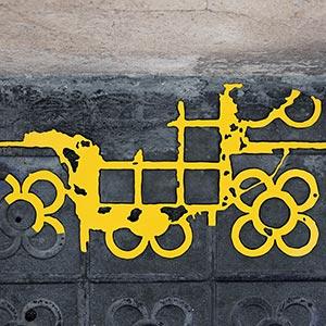 Barcelona Hecomi Map Project<br />Carrer Del Matagalls 1<br />2014, 62 x 28 cm