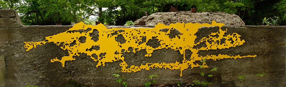 Moiwa Mountain Trail<br />The remains of the ski lift by The United States Army, Minami-ku, Sapporo, JP<br />2015, 306 x 74 cm