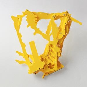Carrer De La Pietat, Barcelona, Spain<br />Compressed PVC, Steel, Hinges<br />19 x 19 x 3 cm, 2010<br />Private collection<br />