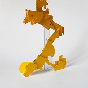 Av de los Italianos, Buenos Aires, Argentine<br />Compressed PVC, Steel, Hinges<br />27 x 42 x 6 cm, 2013<br /><br />