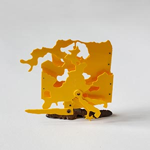 Palmaille 58, Hamburg, Germany #2, State I<br />Bronze, Compressed PVC, Steel, Hinges<br />11 x 10.5 x 5 cm, 2013<br />Private collection<br />