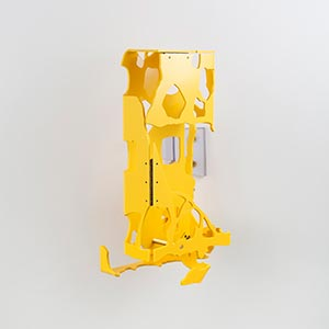 Barcelona Hecomi Map Project<br />Carrer De Mallorca 221-223, Barcelona, Spain #1, State I<br />Compressed PVC, Steel, Hinges<br />8 x 16 x 7 cm, 2014<br />Private collection