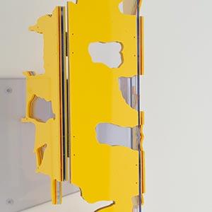 Choorstraat 53, Delft, the Netherlands, State I<br />Compressed PVC, Steel, Hinges<br />11 x 58 x 12 cm, 2014<br /><br />