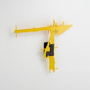 Hecomi Study #27<br />Van Nelle Ontwerpfabriek Part III, Rotterdam, the Netherlands<br />Bronze, Compressed PVC, Steel, Hinges<br />51 x 48 x 5.5 cm, 2013<br />