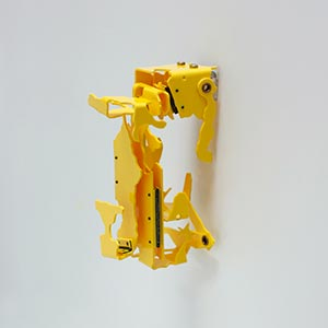 Palmaille 58, Hamburg, Germany #1, State II<br />Compressed PVC, Steel, Hinges<br />3 x 10 x 6 cm, 2016<br /><br />