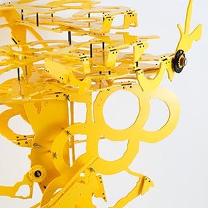 Carrer De Casanova 53, Barcelona, Spain<br />Enlargement 1:3, #2 State II<br />Compressed PVC, Brass, Steel, Hinges, Rotatable devices<br />115 x 145 x 100 cm, 2017<br />
