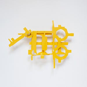 Paseo Campo, Volantin 1, Bilbao, Spain #3<br />Compressed PVC, Brass, Steel, Hinges, Rotatable device<br />19 x 14 x 5 cm, 2017<br />Private collection